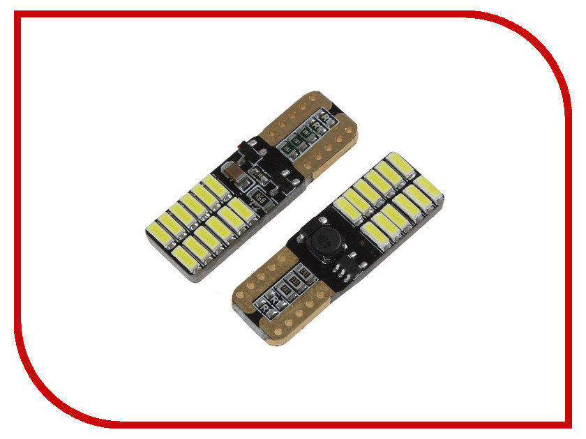 Лампа Gofl Canbus T10-24-4014SMD 6000K White 1525 (2 штуки)<br>