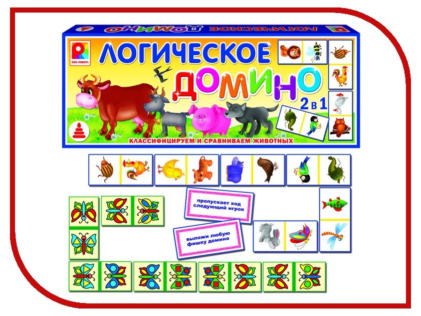 Настольная игра Радуга Логическое домино Животные С-534