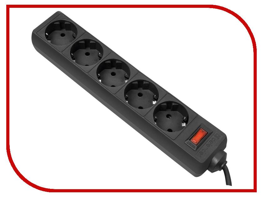 Фото Сетевой фильтр Defender ES 1.8 5 Sockets 1.8m Black 99484. Купить в РФ