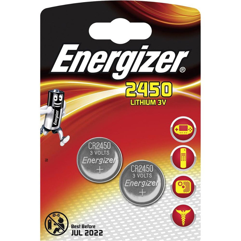 Батарейка CR2450 - Energizer Lithium 3V (2 штуки) E300830701 / 28915 стоимость