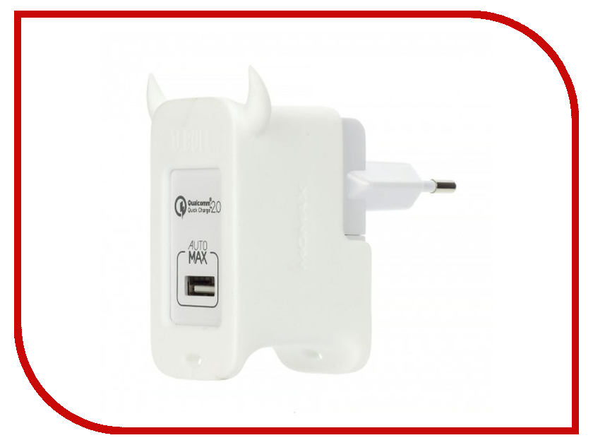 Зарядное устройство MOMAX U.Bull 1-ports USB UM1S White<br>