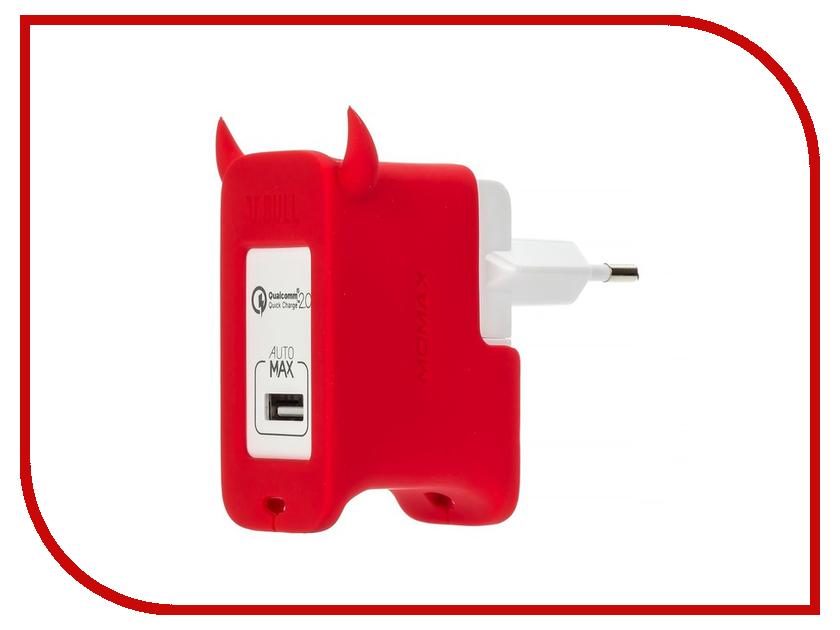 �������� ���������� MOMAX U.Bull 1-ports USB UM1S Red