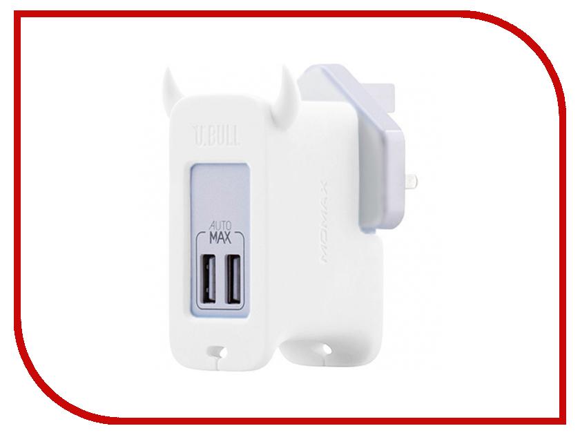 Зарядное устройство MOMAX U.Bull 2-ports USB UM2S White