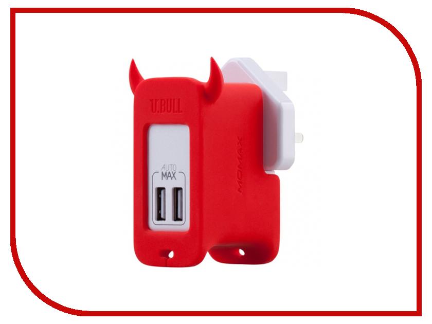Зарядное устройство MOMAX U.Bull 2-ports USB UM2S Red<br>