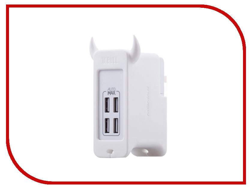 Зарядное устройство MOMAX U.Bull 4-ports USB UM4EU White