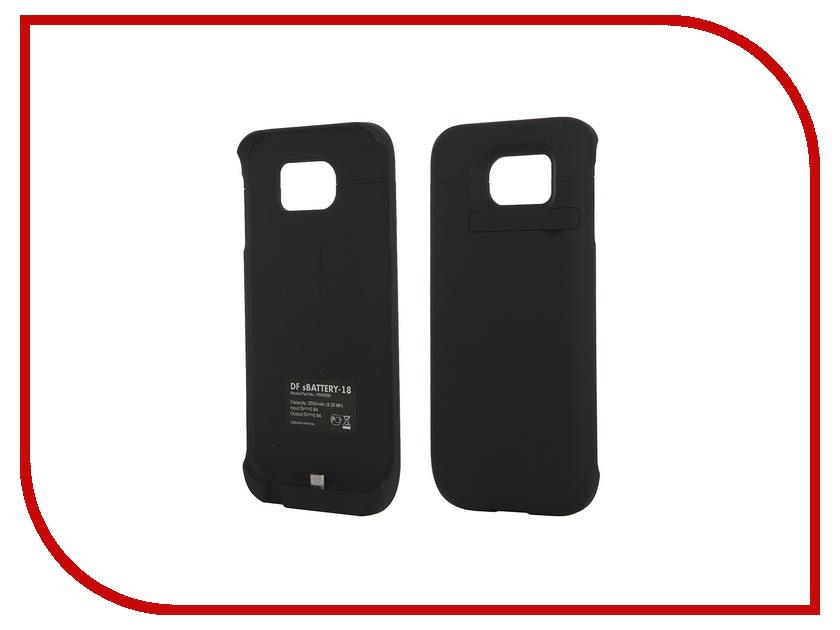 Аксессуар Чехол-аккумулятор для Samsung G920F Galaxy S6 DF SBattery-18 Black mooncase soft silicone gel side flip pouch hard shell back чехолдля samsung galaxy s6 black