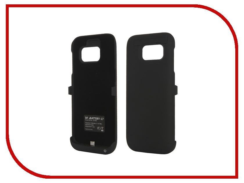 Аксессуар Чехол-аккумулятор Samsung Galaxy S7 DF SBattery-17 Black<br>