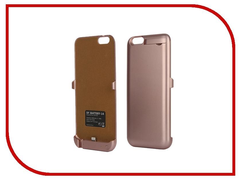 Аксессуар Чехол-аккумулятор DF iBattery-14 для iPhone 6 / 6S Rose Gold