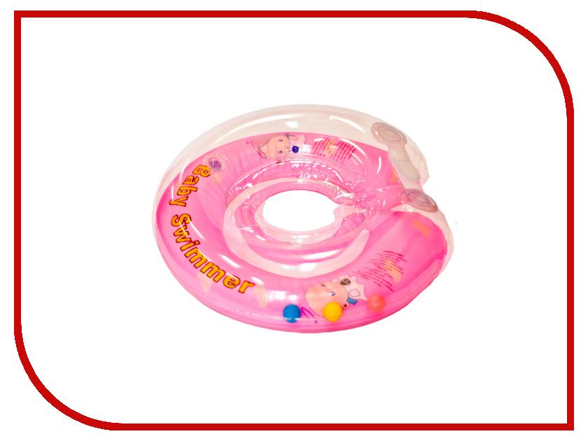 Надувной круг Baby Swimmer Розовый бутон BS12A-B