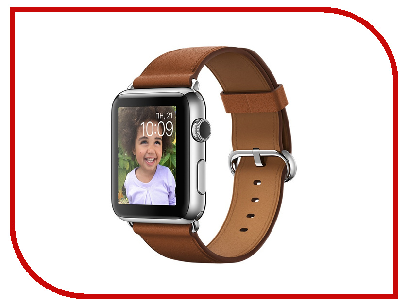 Умные часы APPLE Watch 42mm with Gold-Brown Band MMFT2RU/A<br>