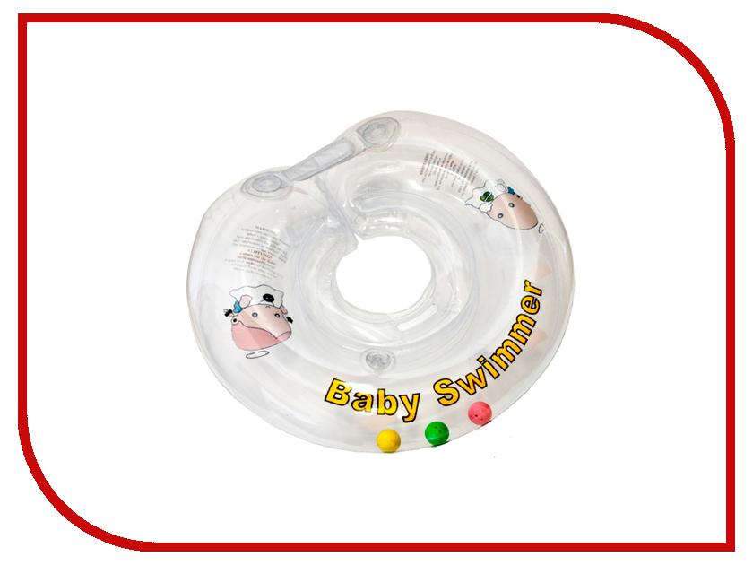 Надувной круг Baby Swimmer Прозрачная капелька BS12E-B