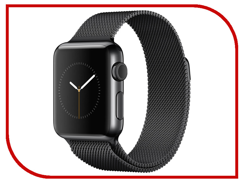 Умные часы APPLE Watch 38mm with Black Space Band MMFK2RU/A<br>