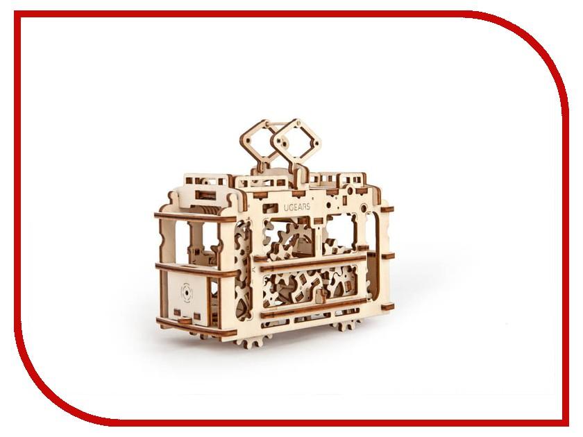 3D-пазл UGears Трамвай конструкторы игрушки из дерева трамвай