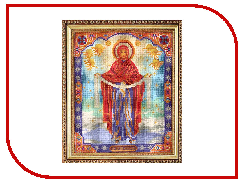 Набор для творчества Кроше Богородица Покрова для вышивания бисером В174