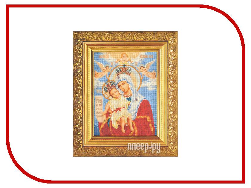 Набор для творчества Кроше Богородица Милующая для вышивания бисером В168