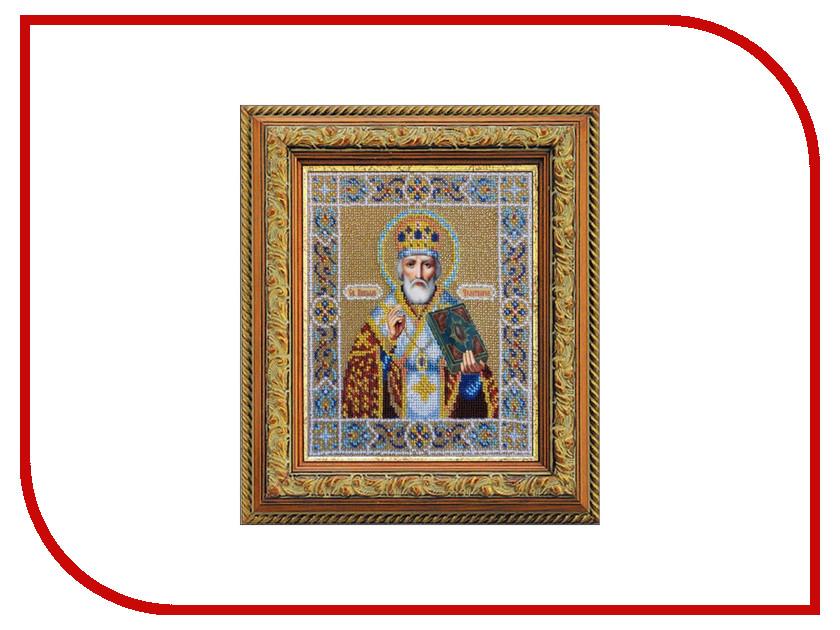 Набор для творчества Паутинка Св. Николай Чудотворец для вышивания бисером Б1005<br>