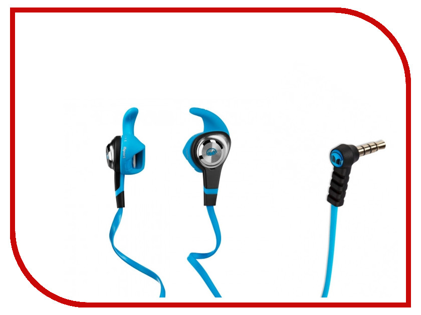Monster iSport Strive Blue 137025-00 беспроводные наушники monster isport freedom wireless bluetooth on ear green