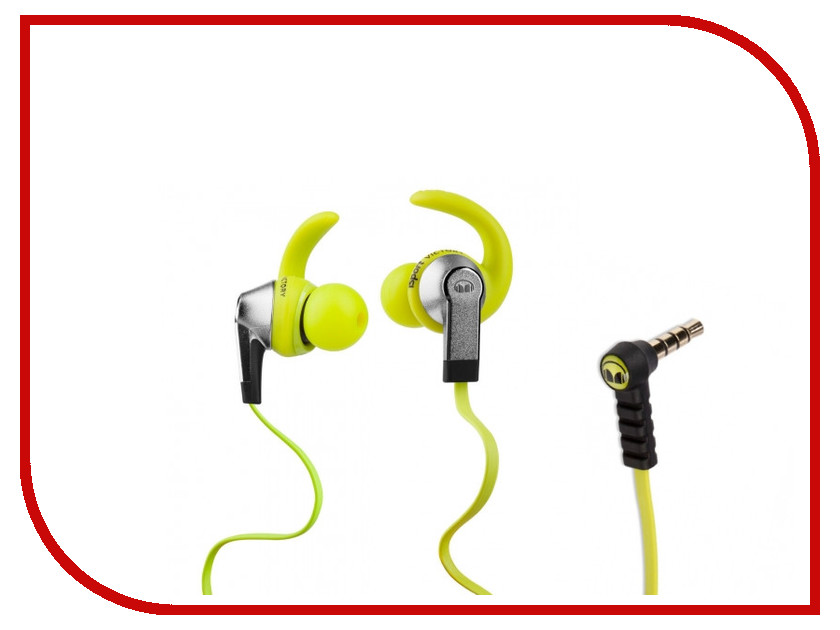 Гарнитура Monster iSport Victory Green 137026-00