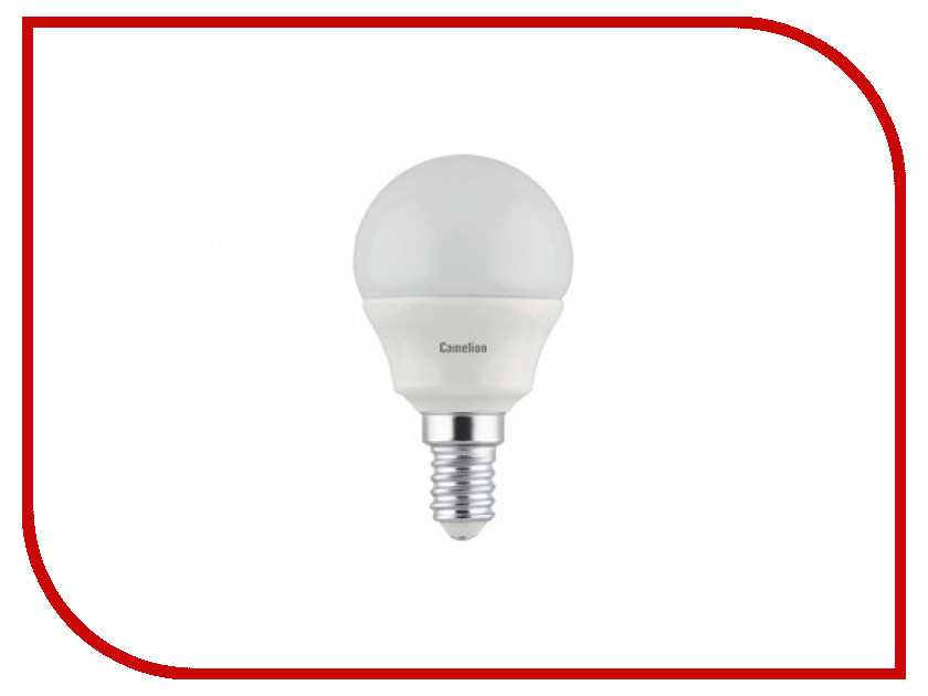 Лампочка Camelion G45 4.5W 220V E14 4500K 415 Lm LED4.5-G45/845/E14 лампочка ecola globe led e14 7w g45 220v 4000k k4lv70elc