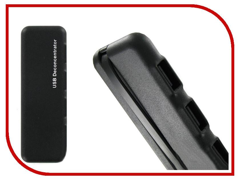 Хаб USB Krutoff U1 USB 2.0 4 Ports Black 14093<br>