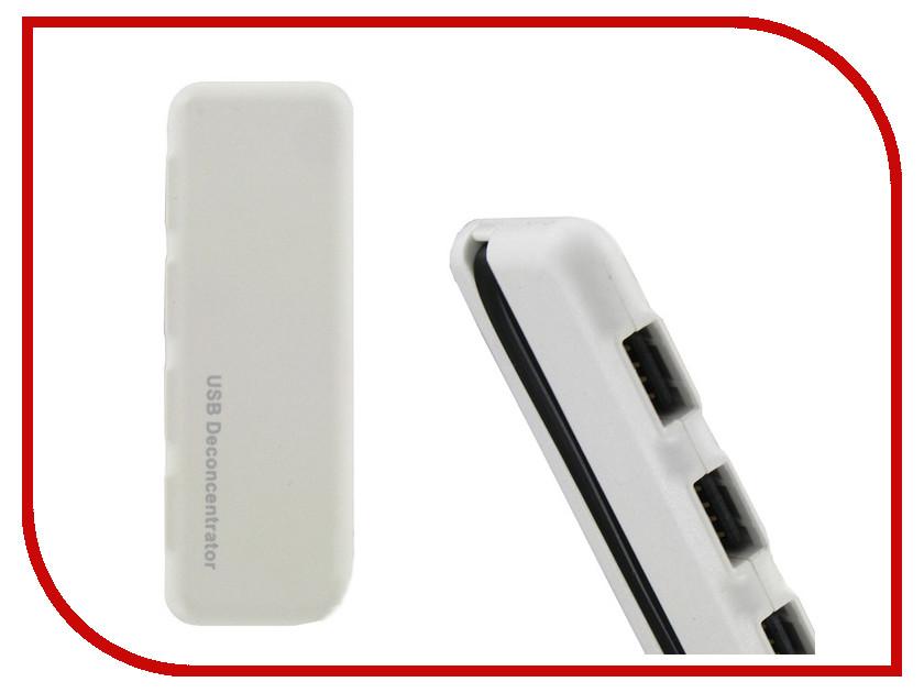 Хаб USB Krutoff U1 USB 2.0 4 Ports White 14094