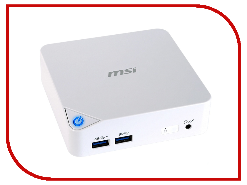 Неттоп MSI Cubi-227RU 9S6-B09612-227 (Intel Celeron 3215U 1.7 GHz/2048Mb/500Gb/Intel HD Graphics/WiFi/Bluetooth/Windows 10)<br>