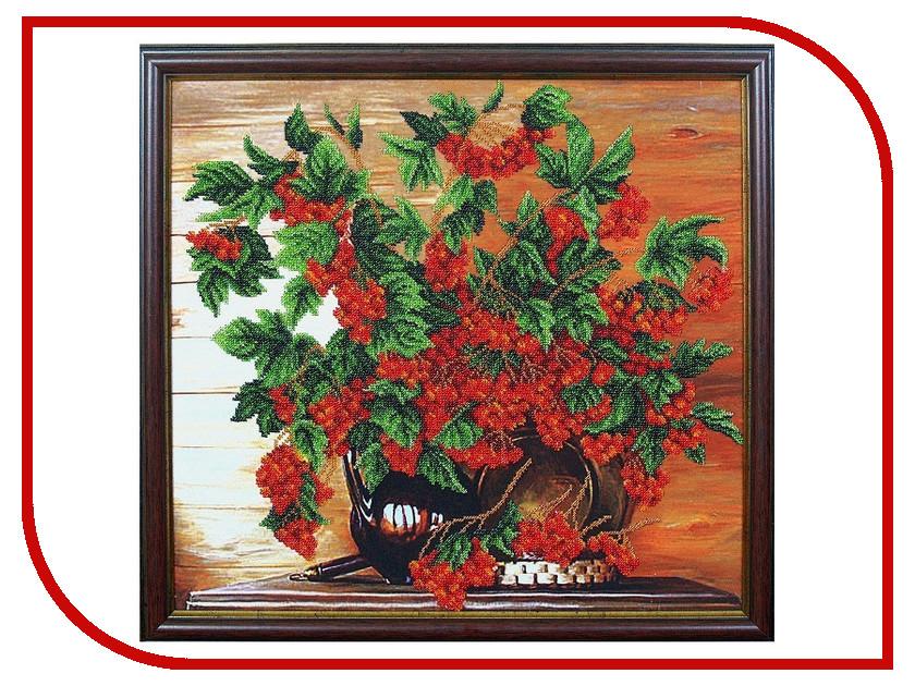 Набор для творчества Магия канвы Калина красная для вышивания бисером Б-095