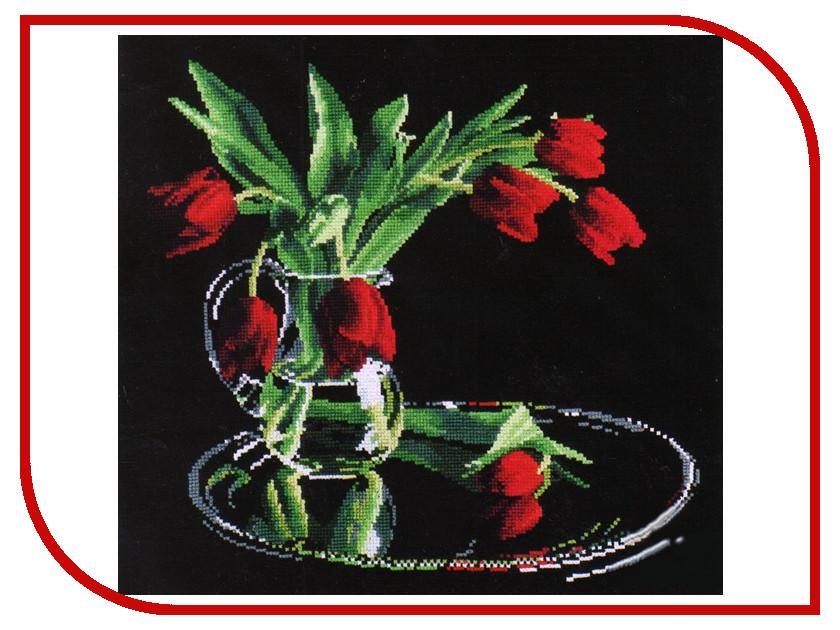 Набор для творчества ОВЕН Тюльпаны на черном для вышивания 318<br>