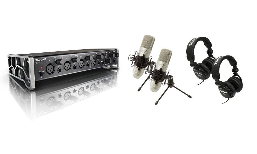 Комплект для звукозапсиси Tascam TrackPack 4x4 от Pleer