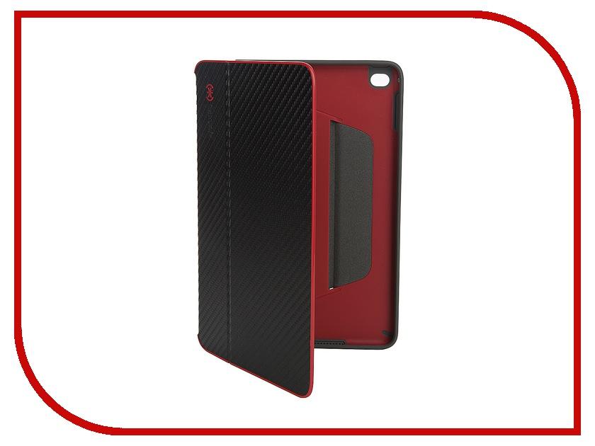 Аксессуар Чехол Speck StyleFolio для iPad Mini 4 Carbon Fiber Black-Crimson Red 73885-5077<br>