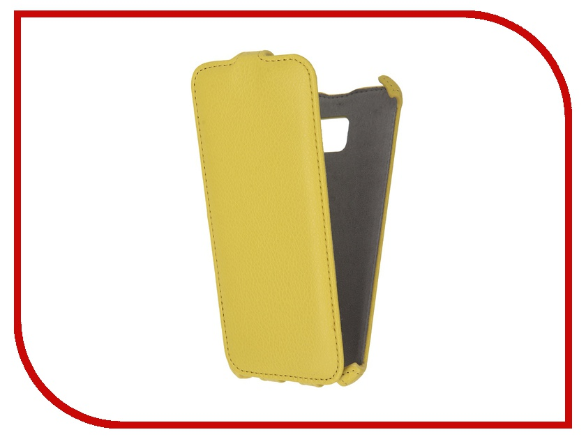 Аксессуар Чехол Samsung Galaxy S7 Edge Activ Flip Case Leather Yellow 57981