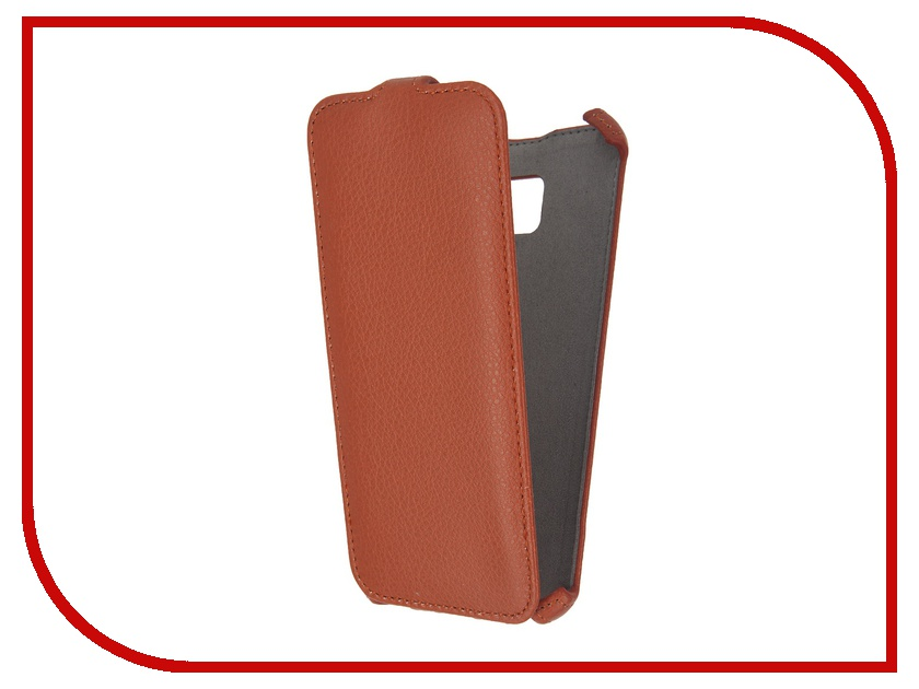 Аксессуар Чехол Samsung Galaxy S7 Edge Activ Flip Case Leather Orange 57982