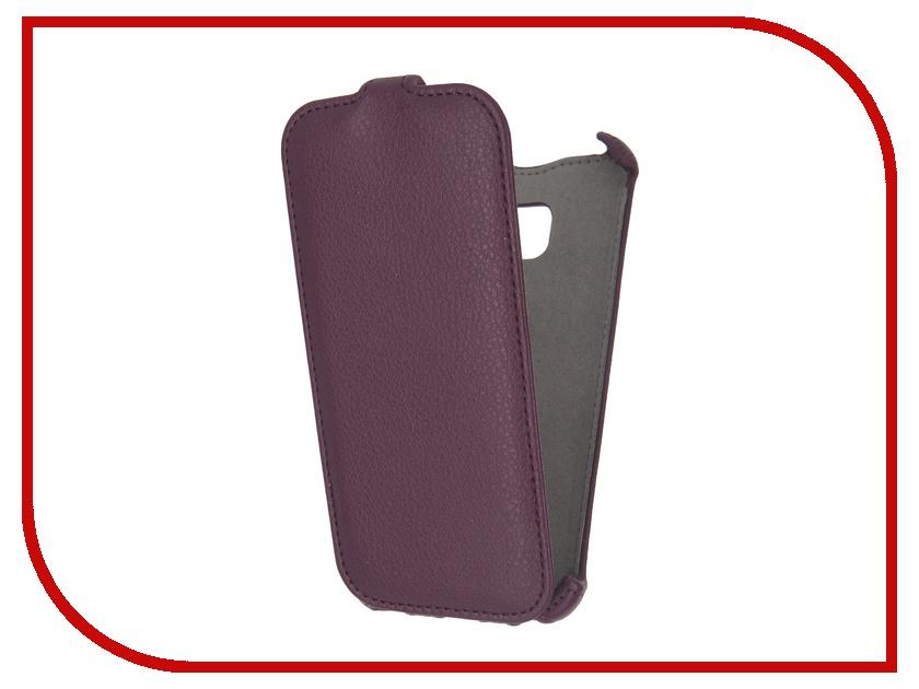 Аксессуар Чехол Samsung Galaxy S7 Activ Flip Case Leather Violet 57983<br>