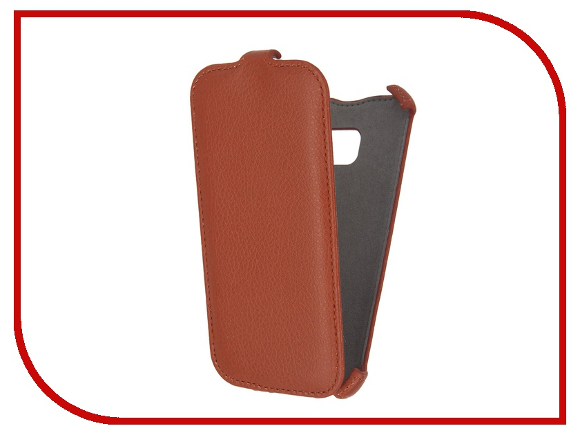 Аксессуар Чехол Samsung Galaxy S7 Activ Flip Case Leather Orange 57985<br>