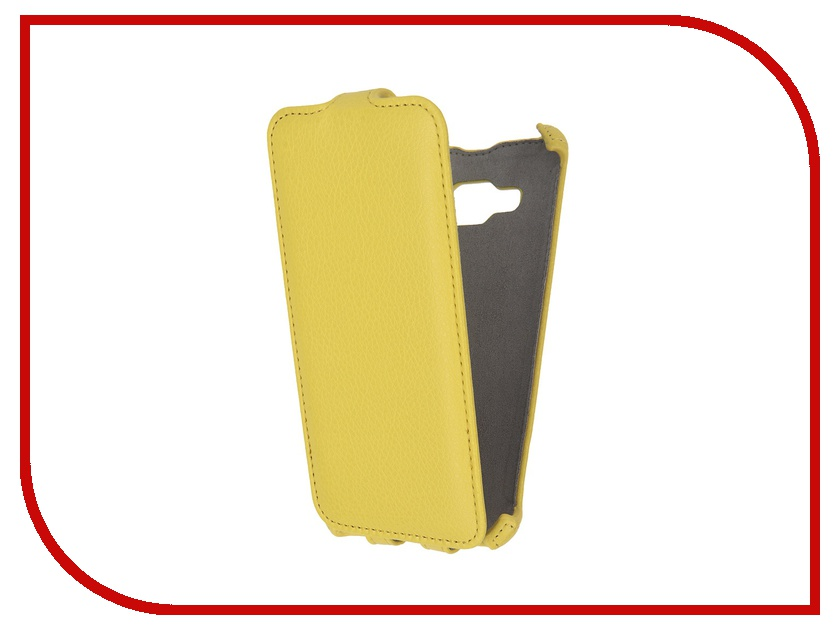 Аксессуар Чехол Samsung Galaxy J3 2016 Activ Flip Case Leather Yellow 58000<br>