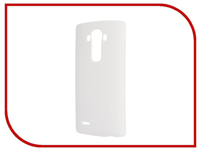 Аксессуар Чехол LG G4 Nillkin Frosted Shield White<br>