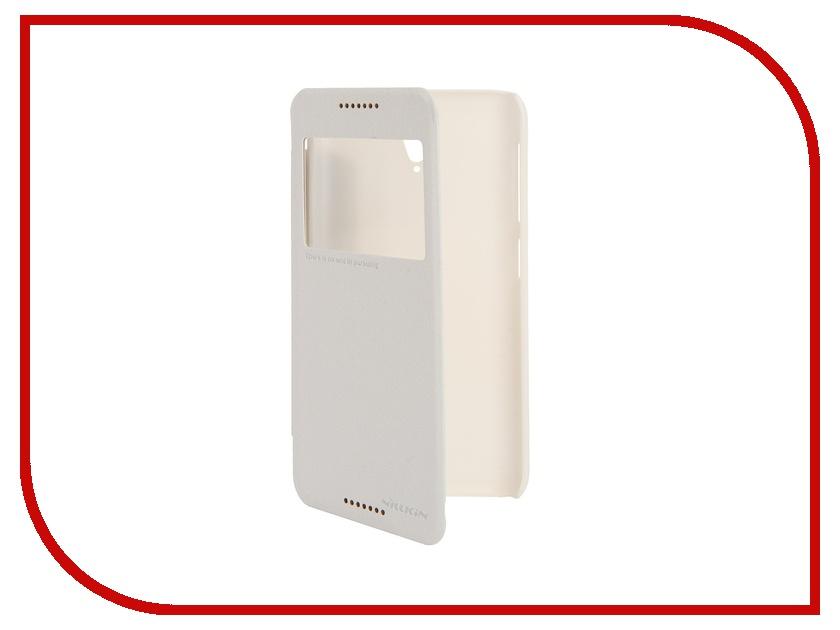 Аксессуар Чехол HTC Desire 620 Nillkin Sparkle White<br>