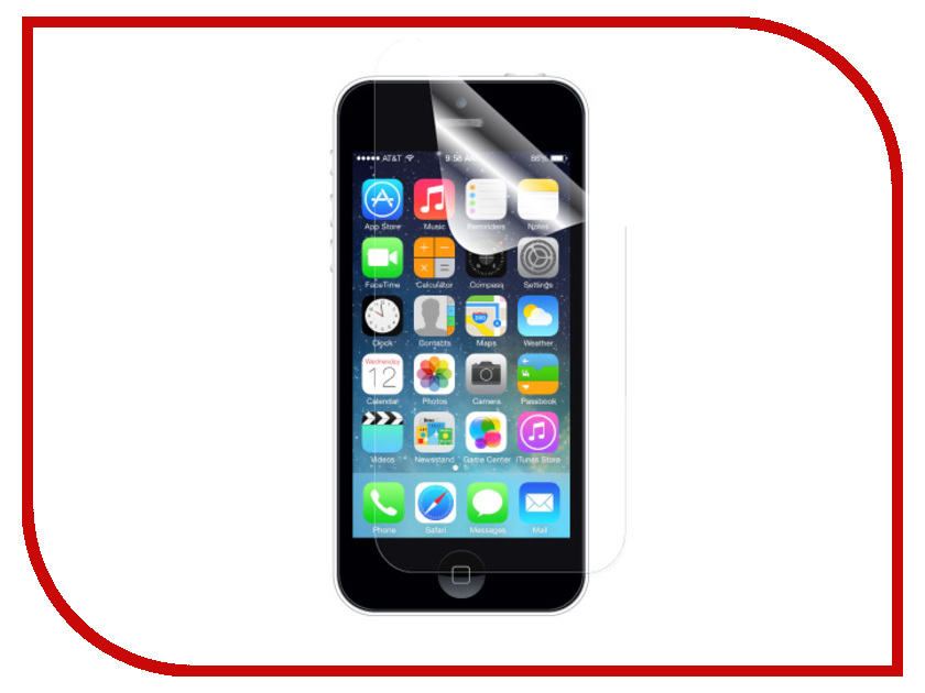 Аксессуар Защитная пленка InterStep Ultra для iPhone 5 / 5S / SE / 5C (экран + задняя панель) ультрапрозрачная IPHONE5CL 24822