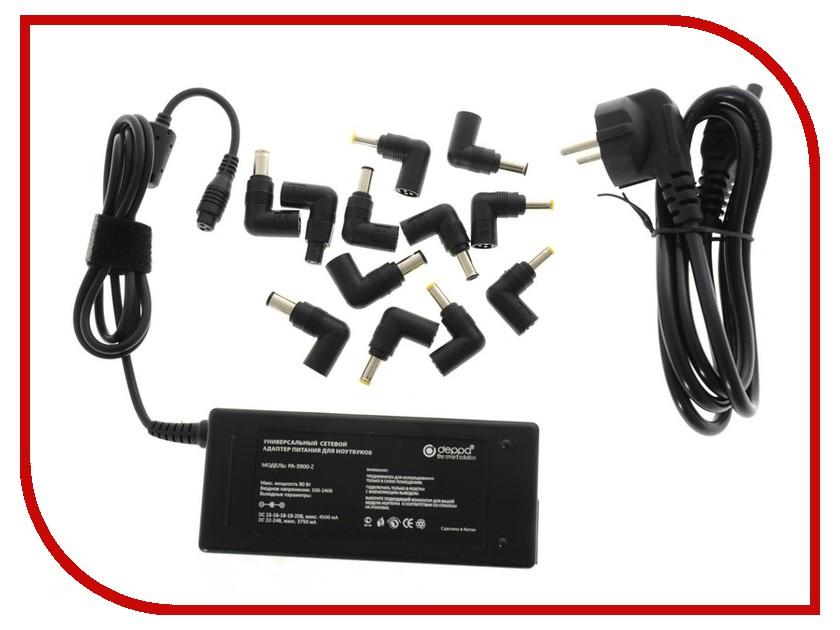 зарядные устройства для ноутбуков 90W универсальный, 12 коннекторов  Блок питания Deppa 90W универсальный, 12 коннекторов 21103
