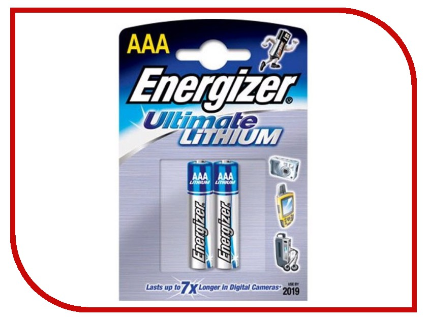 Батарейка AAA - Energizer Ultimate Lithium L92 FR03 (2 штуки)<br>