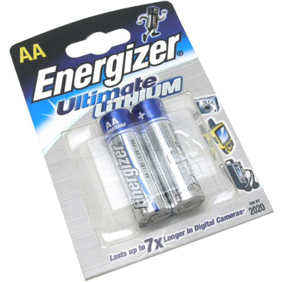Батарейка AA - Energizer Ultimate Lithium L91 FR6 (2 штуки) 639154 / 11651