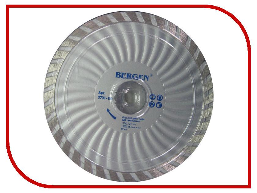 Диск BERGEN Turbo 3731-BG алмазный отрезной 115x22.23mm