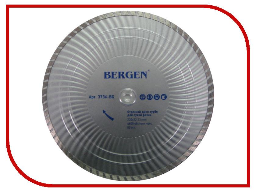 Диск BERGEN Turbo 3736-BG алмазный отрезной 230x22.23mm