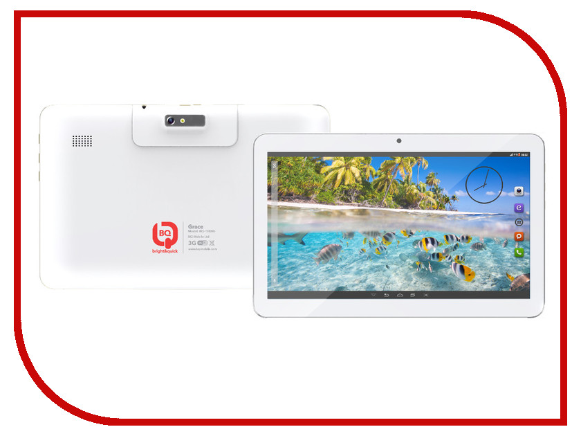 Планшет BQ 1008G Grace White Spreadtrum SC7731 1.2 GHz/512Mb/4Gb/GPS/3G/Wi-Fi/Bluetooth/Cam/10.1/1024x600/Android