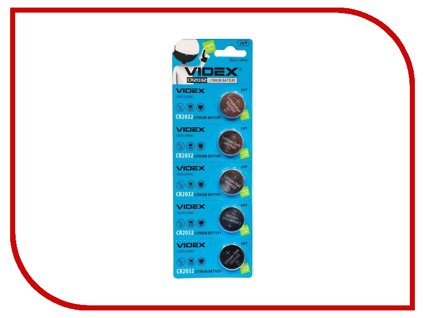 Батарейка Videx Lithium CR2032 BL-5<br>
