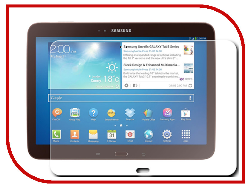 Аксессуар Защитная пленка Samsung Galaxy Tab 3 10.1 InterStep Ultra ультрапрозрачная SGTAB310U 27557