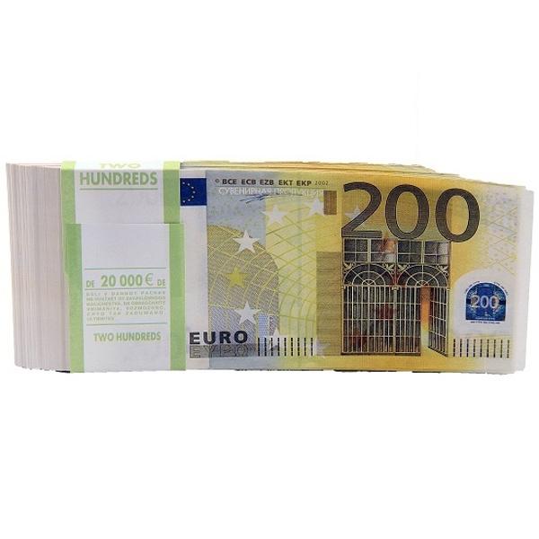 СмеХторг Шуточные купюры - бабки 200 евро пачка 100 шт