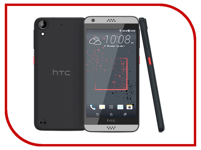 Сотовый телефон HTC Desire 630 Dual Sim Dark Gray<br>
