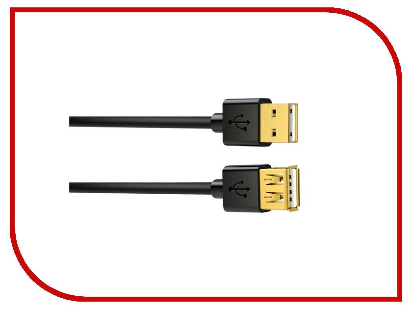 Аксессуар InterStep USB 2.0 AM - AF 3m USBAA3GLD 17273