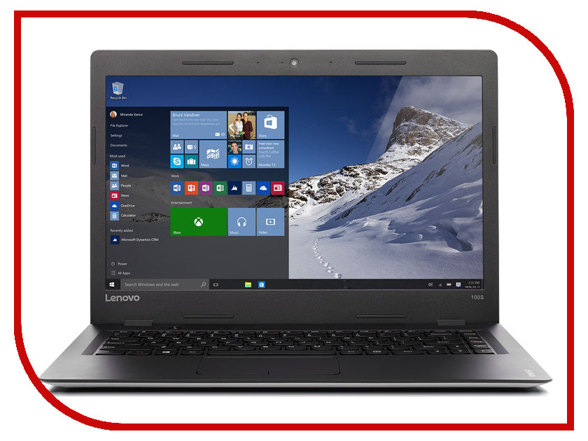 Ноутбук Lenovo IdeaPad 100S-14IBR 80R9008KRK (Intel Celeron N3060 1.6 GHz/2048Mb/32Gb EMMC/No ODD/Intel HD Graphics/Wi-Fi/Bluetooth/Cam/14.0/1366x768/Windows 10)<br>